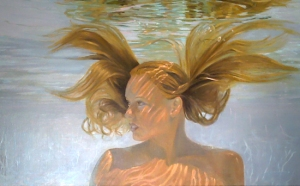 Invincible, 24 x 36 oil on linen canvas, by Deborah Chapin. Women Painting Women RJD Gallery, Sag Harbor, NY