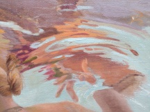 """detail hand, WIP, Contemporary Art, Book of Water Project, A""""Holding Up the Sky"""" by Deborah Chapin"""